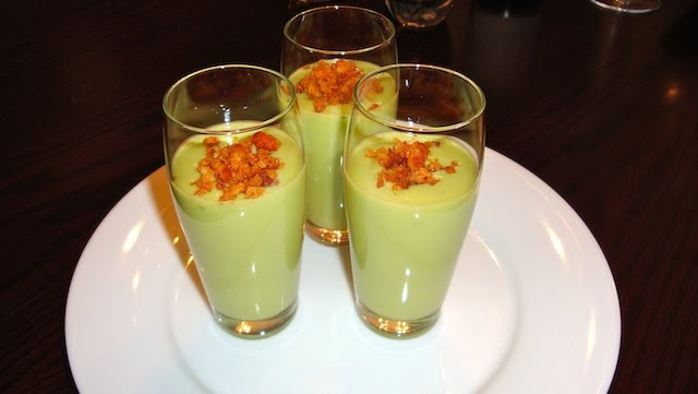 Chilled Avocado Soup Shooters with Spicy Breadcrumbs | La Cucina ...